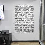 Vinilo Decorativo Reglas de la Familia exito.com