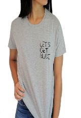 Camisetas Lets Get Nude Zeta Z0005G Gris|carulla.com