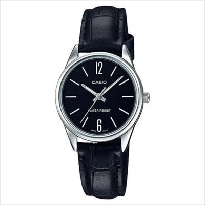 1963e8c60def Reloj Casio LTP V005L 1B Lujoso Para Dama Cuero Negro CASIO ...