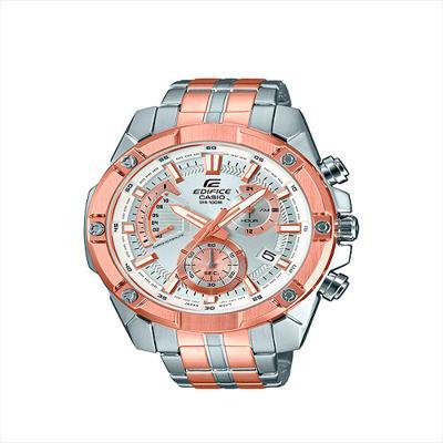 8aae0e04b4b1 CASIO EDIFICE--Reloj Casio EFR-559SG-7A Para Caballero Plateado Oro Rosa