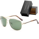 Gafas De Sol Marfil marco dorado carey Lente verde Elegantes|carulla.com