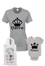 conjunto camiseta duo para Mamá y bebe queen and prince|carulla.com