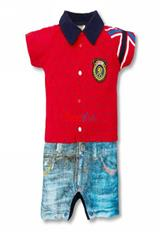 Mameluco Diseño Camisa Polo Color Rojo|carulla.com