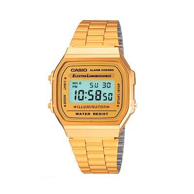 e863c40b8cc7 CASIO--Reloj Casio A 168WG Retro Dorado En Acero Inoxidable Unisex-exito.