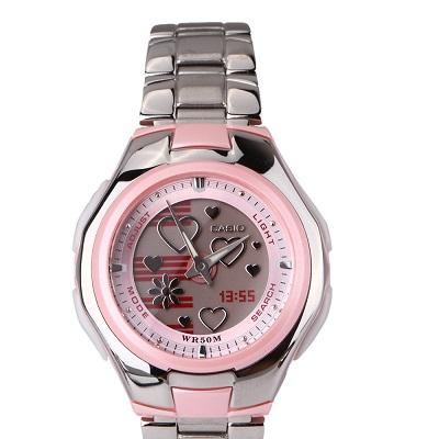 d7de23a4eabd CASIO--Reloj Casio Poptone Lcf-10D-4A En Acero Inoxidable Para Dama