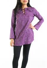Blusa Estampada Aranzazu en algodón escote con cordón|carulla.com