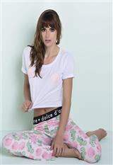 Pantalón con camiseta de conchas bordadas|carulla.com