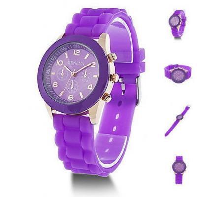 f657902157ce Reloj Geneva Plastico Morado Unisex HAPPY GENEVA - Compras por ...