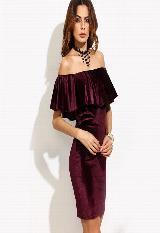 Vestido Velvet Color Vinotinto|carulla.com
