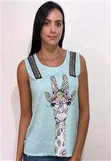 Blusa Estampada Con Piedras Y Apliques Nylon 022|carulla.com