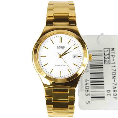 80c372c7bc68 CASIO--Reloj Casio LTP-1170N-7A Analogico Dorado Fondo Blanco-exito