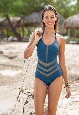 Vestido de Baño Entero sin Arco hecho con material Reciclado carulla.com