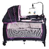 Cuna corral little angel evezo&ebaby - 714-1 Negro rosado|carulla.com
