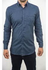 Camisa Casual Ml Estampada Azul B7Wvn216 Mdnt carulla.com