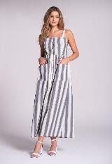 Vestido midi rayas carulla.com
