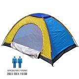 Carpa Camping 2  Personas Multicolor. Azul y amarilla|carulla.com