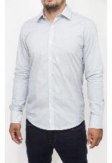 793b811441 Camisa Casual Ml Estampada Azul B7Wvn502 Bl