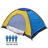 Carpa Camping 4 Personas Multicolor. Azul y amarilla|carulla.com
