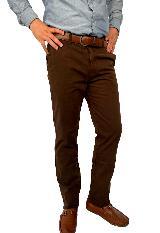 Pantalon Drill Cafe Para Hombre Ref,1132|carulla.com
