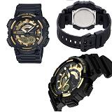 7d6e250e895f Reloj Casio Aeq-110Bw-9A Negro Fondo Dorado Telememo