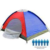 Carpa Camping 6 Personas Multicolor. Azul y roja|carulla.com