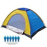 Carpa Camping 6 Personas Multicolor. Azul y amarilla|carulla.com