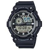 Reloj Casio Aeq-200W-1A Negro Mapa Mundial Hora Mundial |carulla.com