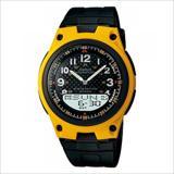 Reloj Casio Aw-80-9B Negro Con Amarillo Correa De Resina |carulla.com