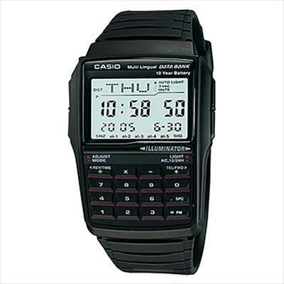 86847bdaa068 CASIO--Reloj Casio Dbc-32-1A Resina Negro Calculadora 8 Digitos -