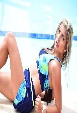Pantaloneta  Running Deportiva Mia Para Mujer Azul -Verde carulla.com