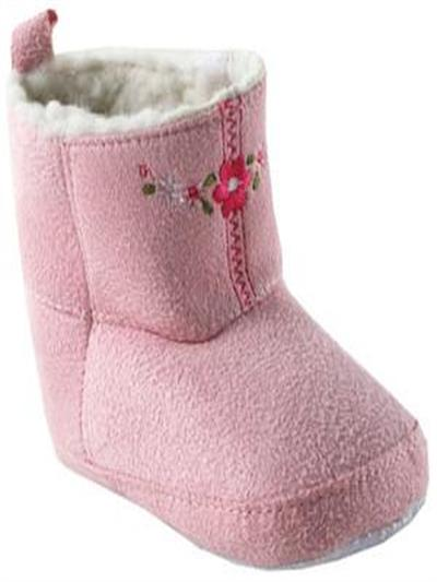 84bcd6966c LUVABLE FRIENDS--Botas Luvable Friends para niña de Gamuza Rosadas 12-18  Meses