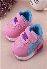 Tenis para niña con cierre en Velcro Rosados Talla 20|carulla.com