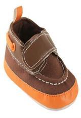 Zapatos Luvable Friends para niño Café con Naranja con Velcro 12-18 Meses|carulla.com