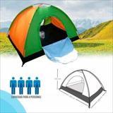 Camping Lona Gruesa Alta Densidad Aluminio Carpa 4 Puestos|carulla.com