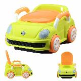 Vasenilla Mica Potty Diseño Carro Bebe Manija Naranja Verde|carulla.com