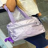 Bolso Kipling Metallic Nagato hand bag Purple|carulla.com