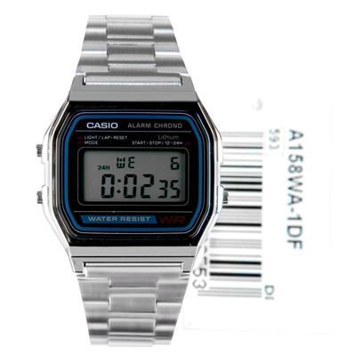 bc3f3f96d94c CASIO--Reloj Casio Retro A158WA Plateado en Acero Unisex-exito.com