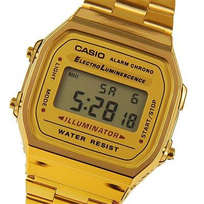 49542216c3f2 CASIO--Reloj Casio Retro A 168WG Dorado en Acero Unisex-exito.com