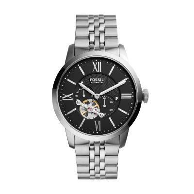 ac9e1110ba62 FOSSIL--Reloj Fossil ME3107 Negro Pulso En Acero Inoxidable -exito.com