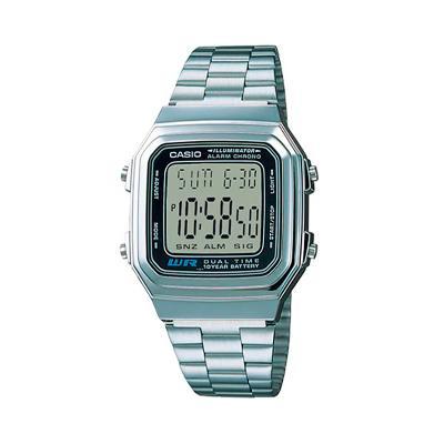 9fd582aa2d6f CASIO--Reloj Casio A178wa-1a Unisex Plateado En Acero-exito.com