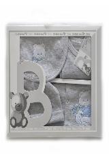 Primera muda para bebe gris azul oso|carulla.com