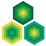 Portavasos Reciclado De Cuero Hexagono Verde X6 11Cm|carulla.com