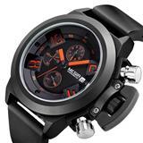 Reloj Tipo Deporte Display Fecha Cronógrafo Reloj De Cuarzo|carulla.com