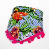 Pañoleta Para Perros Y Gatos Xs Flores Azul Meow Design|carulla.com
