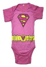 Bodie Body Mameluco Bebe Superheroes Superman Rosado niña|exito.com
