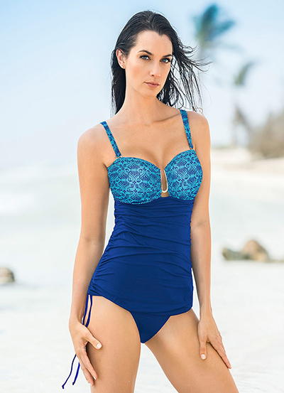 4c3537205 LEONISA--Vestido de Baño Drapeado de Control Fuerte en Abdomen-exito.com