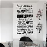 Vinilo Decorativo Por Ejemplo Reglas Del Hogar|carulla.com