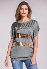Camiseta Estampado Metalizado|carulla.com