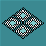 Mantel Rectangular Rombos Azules Ii 2X1.50Mt|carulla.com