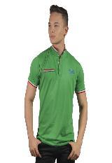 Camiseta Polo Hombre manga Corta Slim Fit Verde Marfil Tom|carulla.com